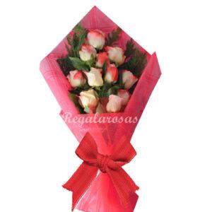 Ramo Rosas Rosadas de Amor a domicilio en santiago
