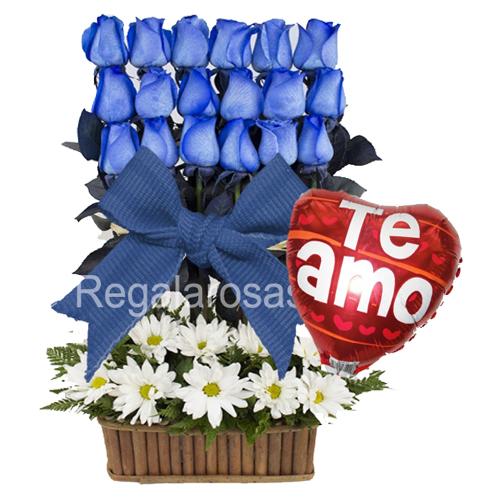 Arreglo rosas azules a domicilio en santiago
