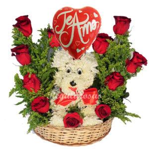 Canasto de rosas rojas a domicilio a domicilio en santiago