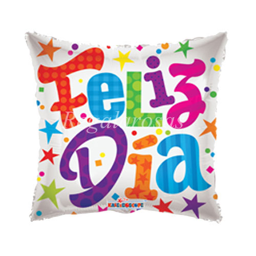 Globo con helio feliz dia a domicilio en santiago