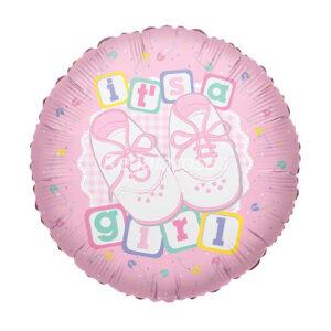 Globo con helio nacimiento niña a domicilio en santiago