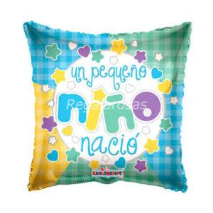 Globo con helio nacimiento niño a domicilio en santiago
