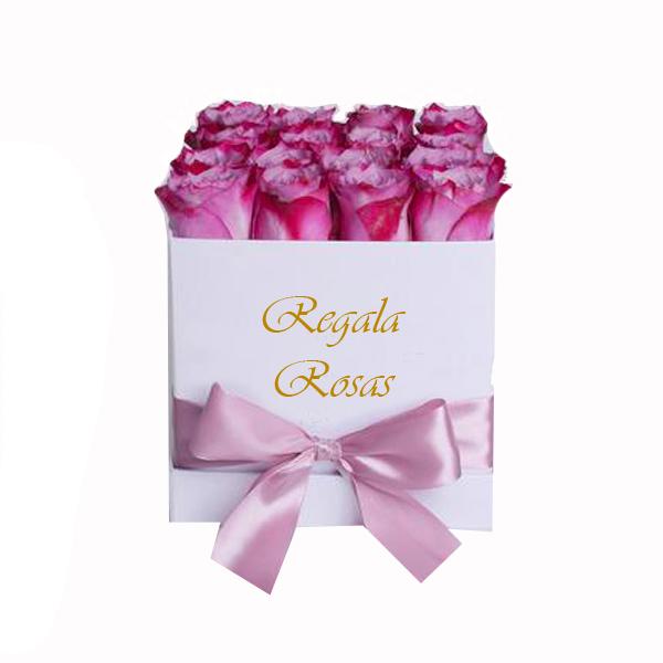 Caja con 24 Rosas rosadas a domicilio en santiago