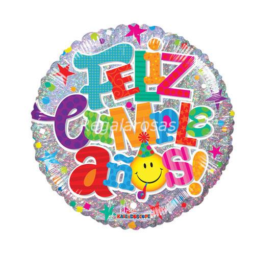 Globo con helio feliz cumpleaños a domicilio en santiago