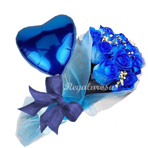 Rosas Azules de Amor a domcilio en santiago