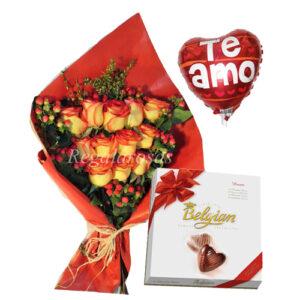 Rosas Bicolor y Chocolate a domicilio en santiago