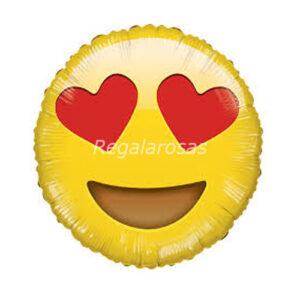 Globo con helio emoticon me encanta a domicilio en santiago