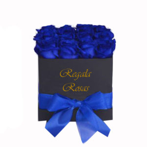 caja con 24 rosas azules a domicilio en santiago