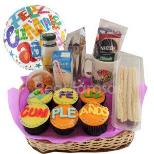 Desayuno Cupcake Cumpleaños a domicilio en santiago