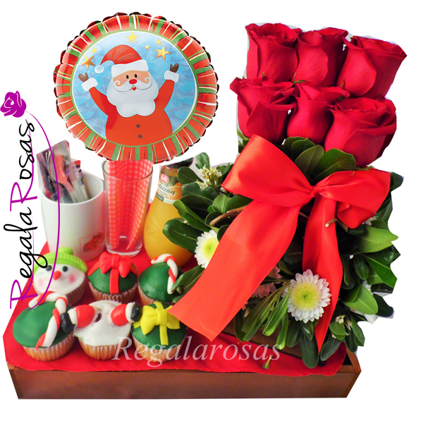 Bandeja de navidad 2 flores a domicilio for Bandejas de navidad