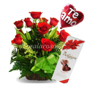 Arreglo Rosas Rojas Chocolate Amor Regala Rosas a domicilio en santiago