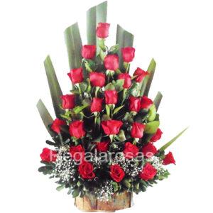 Arreglo de Rosas Rojas Para Enamorar a domicilio en santiago