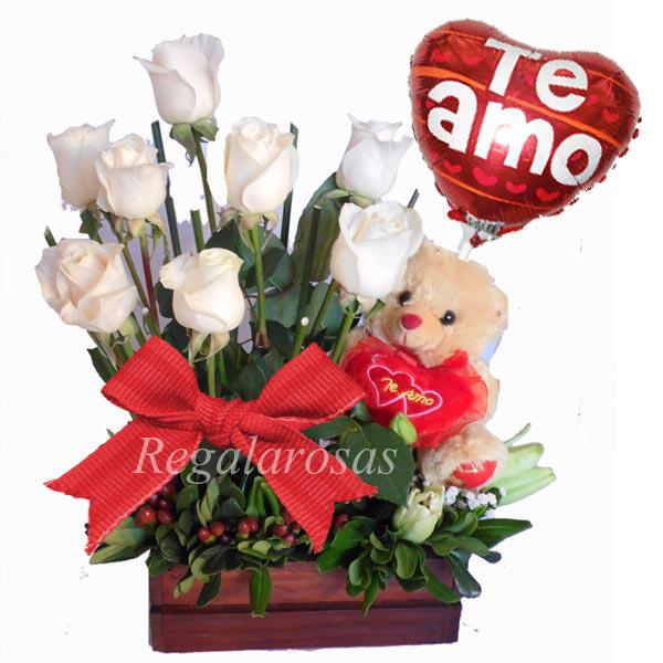 Arreglo Rustico de Rosas Amor Regala Rosas a domicilio en santiago