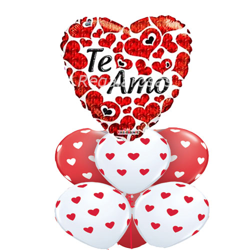 Bouquet de globos Aire te amo a domicilio en santiago