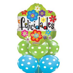 Bouquet de globos Aire Felicidades a domicilio en santiago