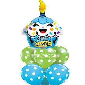 Bouquet de globos Aire feliz cumpleaños a domicilio en santiago