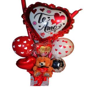 Bouquet de globos Aire te amo Especial a domicilio en santiago