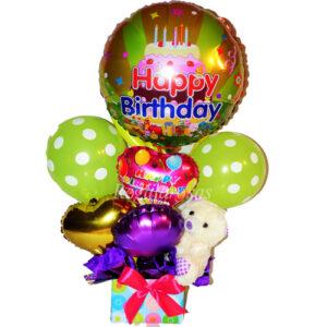 Bouquet de globos Aire Feliz cumpleaños especial a domicilio en santiago