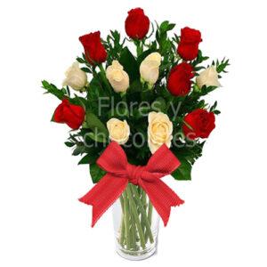 florero de rosas a domicilio