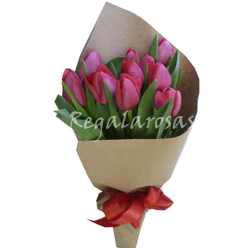 Ramo con 10 Tulipanes a domicilio en santiago