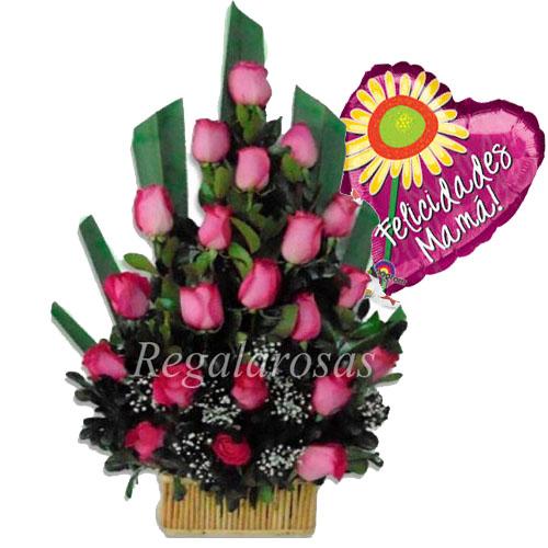 Arreglo Rosas Rosadas Dia de la mama