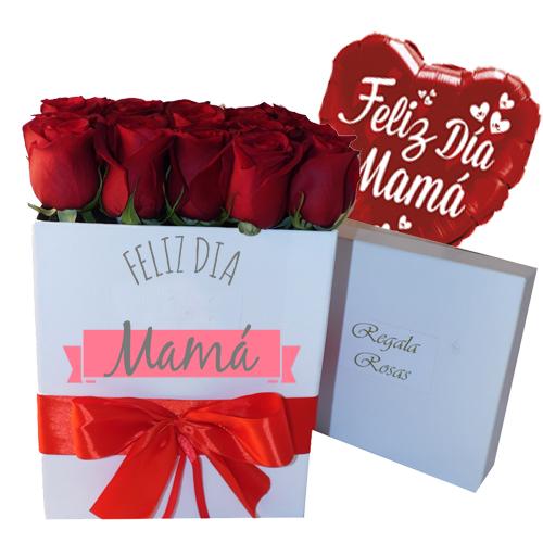 Rosas Rojas en Caja Premium Dia de la Madre