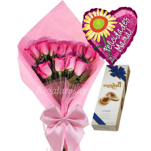 Ramo de Rosas Rosadas Dia de la Madre