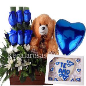 Arreglo de Rosas azules a domicilio