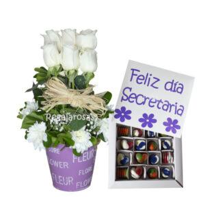 flores dia de la secretaria