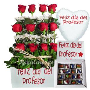 Flores día del profesor